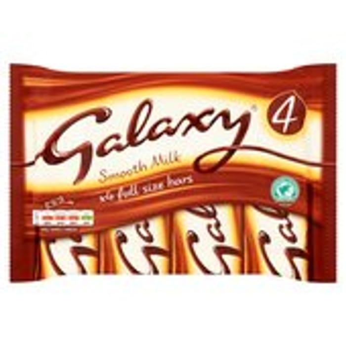 Galaxy Milk Chocolate Multipack Bars 4 X 42g