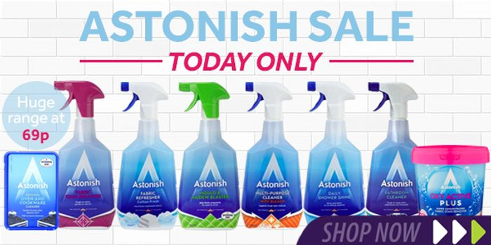 All Astonish Cleaning Products 69p Today Only