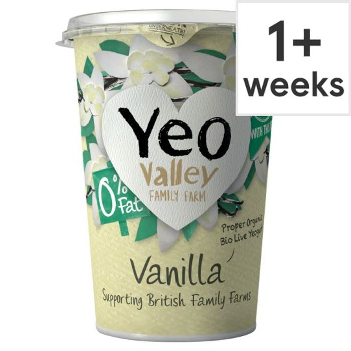 Yeo Valley 0% Fat Vanilla Yogurt 450G - Less £0.50!