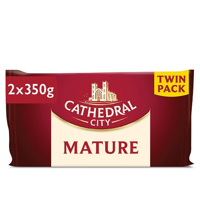 Cathedral City Mature Cheddar Cheese Twin Pack - 2 X 350g - 37% Off