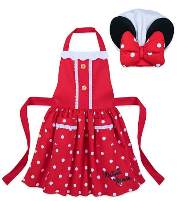 Minnie Mouse Disney Eats Apron and Chef Hat Set for Kids - 20%Off Only £10.4