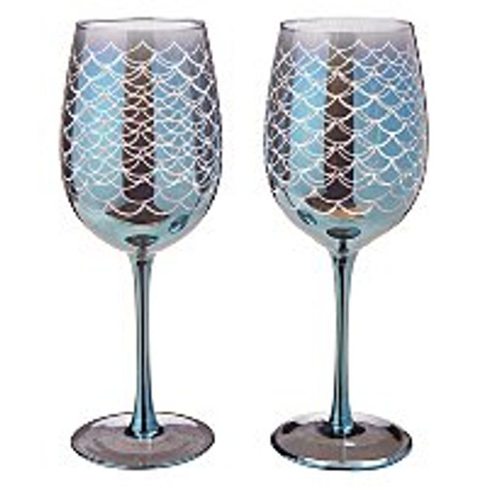 Mermaid Wine Glasses Set of 2