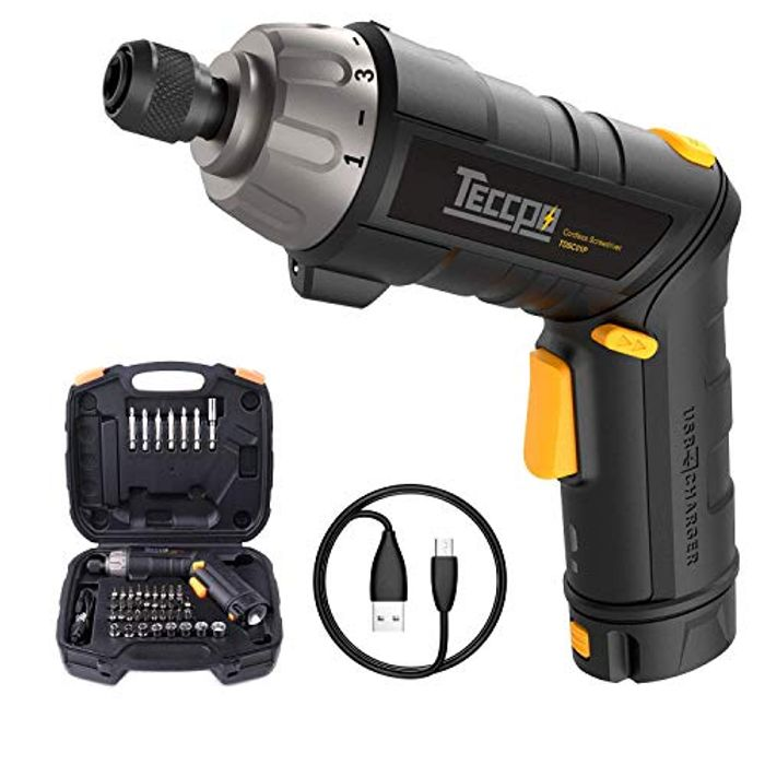 Electric Screwdriver, TECCPO 3.6V 2000mAh Rechargeable
