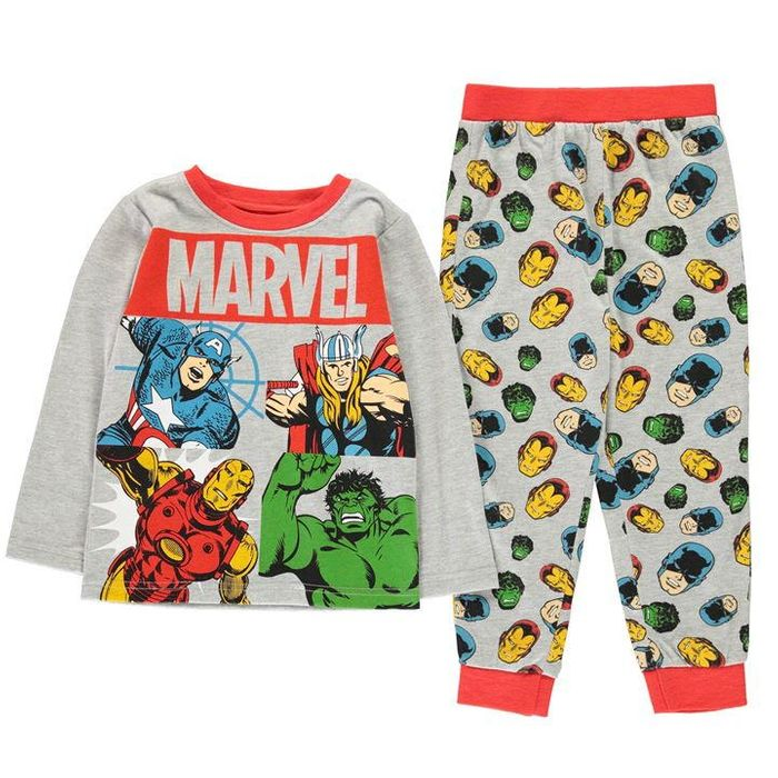 Avengers Long Sleeve Pyjama Set Childrens