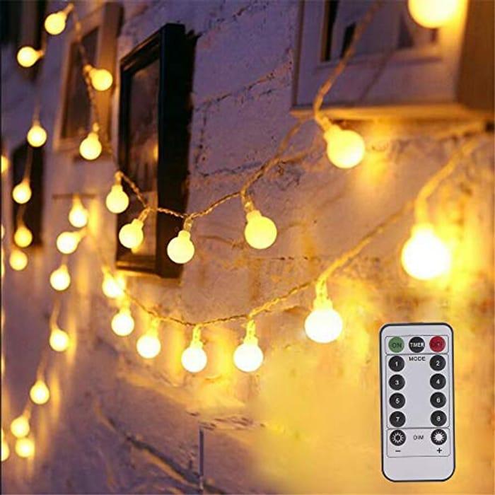 Anpress Globe LED String Light 33 Ft 100 LEDs with Remote