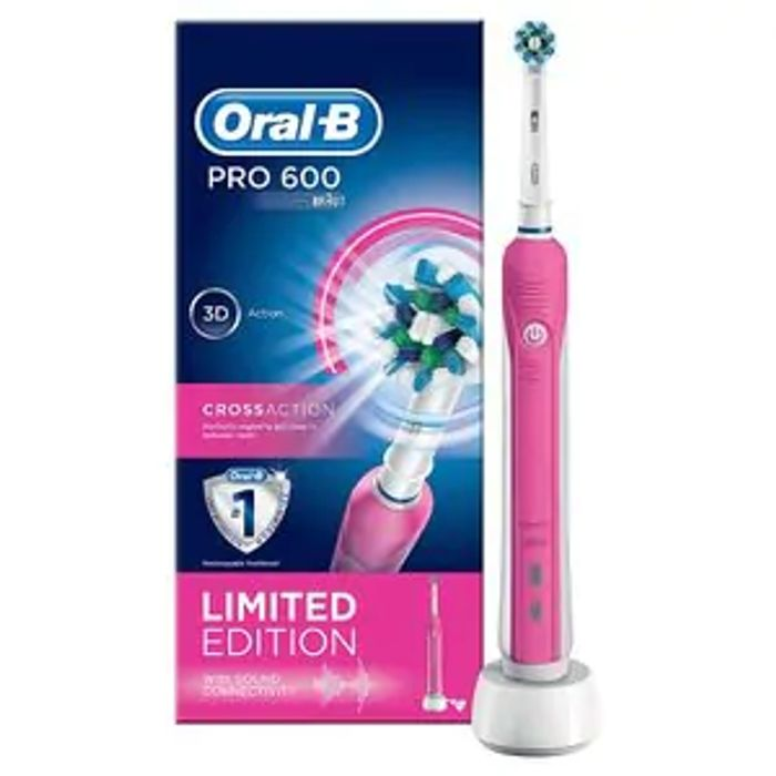 Oral B Pro 600 Pink Special Edition Electric Toothbrush