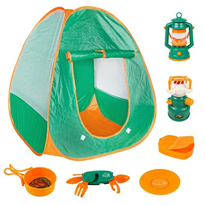 Camping Set with Role Play Tent 7 Pcs Camping Accessories for £10