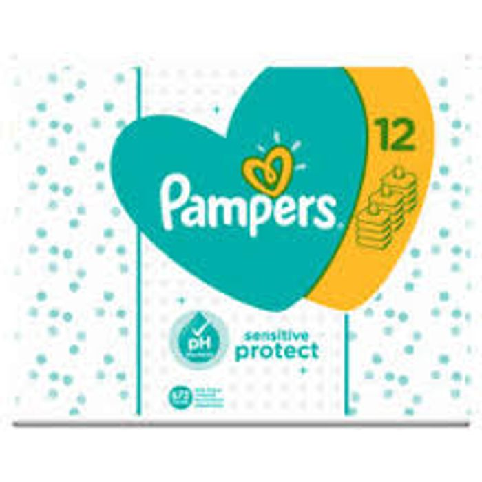 Pampers Sensitive Unscented Baby Wipes 12 X 56pk