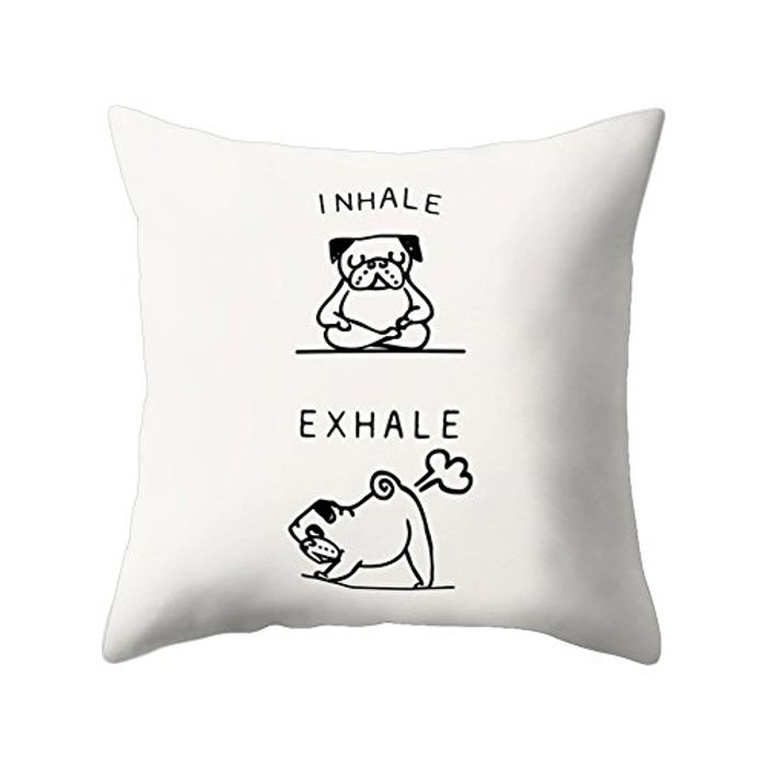 Funny Cartoon Dog Print Cushion Case