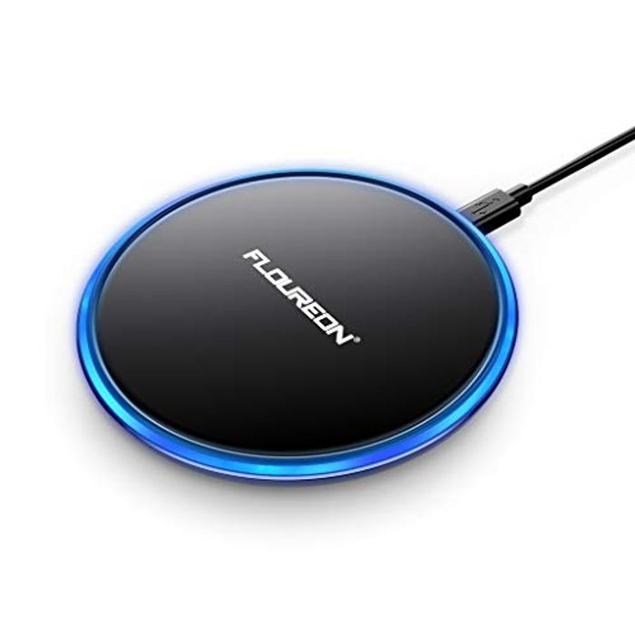 FLOUREON Qi Fast Wireless Charger- save 70%
