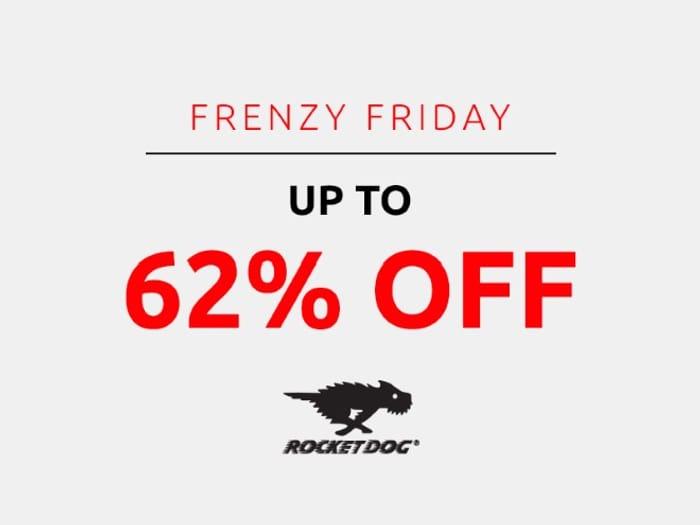 Save up to 62% on Rocket Dog | Frenzy Friday