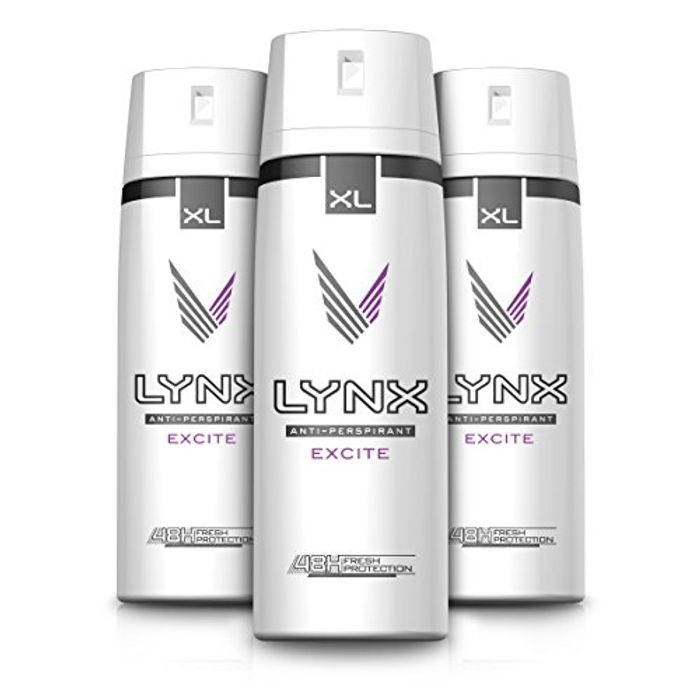 Lynx Excite Aerosol Anti-Perspirant Deodorant, 200 Ml, Pack of 3