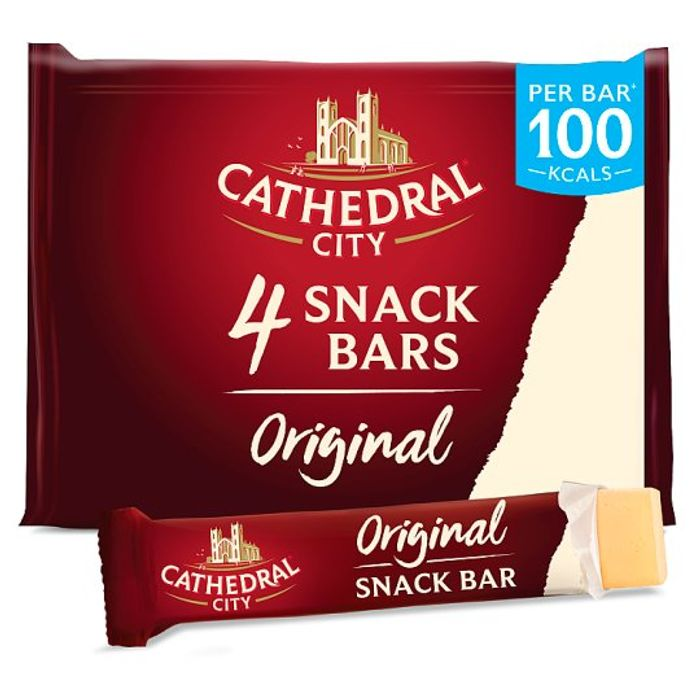 Cathedral City Snackbar Mature Cheddar 4X24g - HALF PRICE!