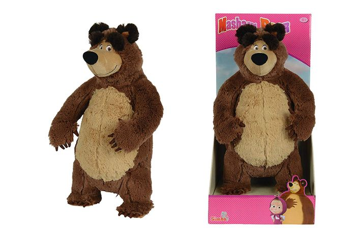 Amazon Prime Exclusive: Masha Bear Plush Toy 35cm - Save 35%