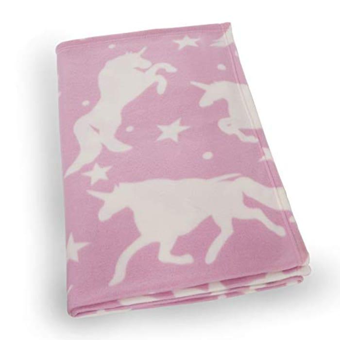 Dreamscene Fleece Blanket, Unicorn Pink-120 X 150 Cm - 35% Off Discount
