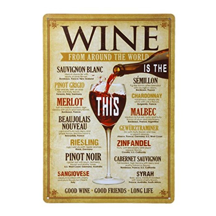 20x30cm Vintage Metal Tin Wall Sign Plaque Poster for Cafe Bar Pub Wine #5