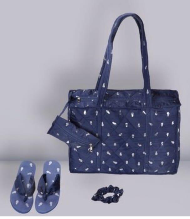Print Beach Bag + Flip Flops +Purse + Scrunchy - Save £10