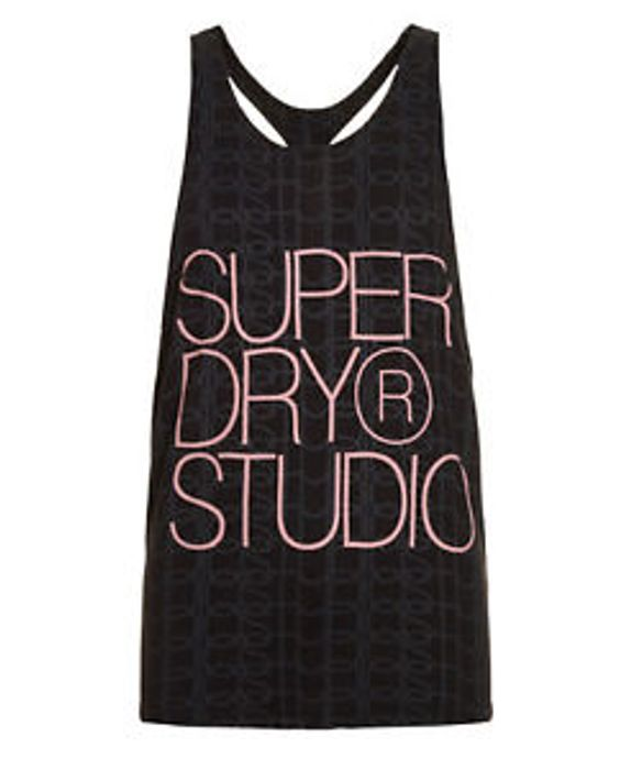 Womens Superdry Studio Elastic Vest Midnight Grey