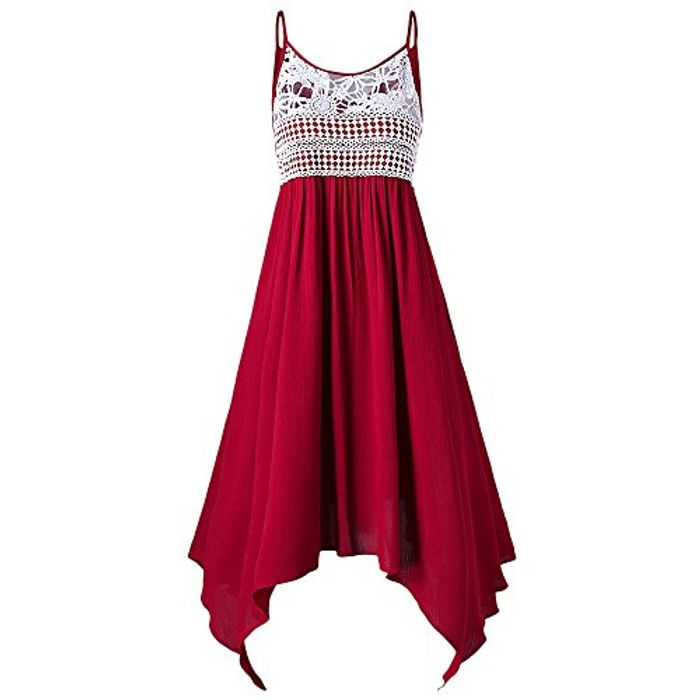 Lace Embellished Asymmetrical Slip Dress (Use 80% off Voucher)