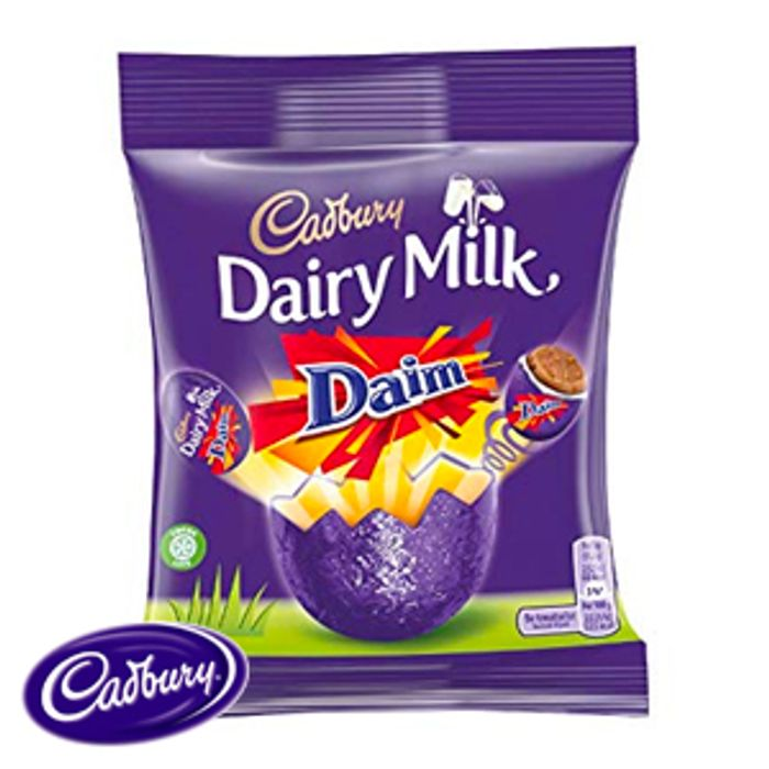 Dairy Milk Daim Chocolate Eggs (22 X 86g Bags)