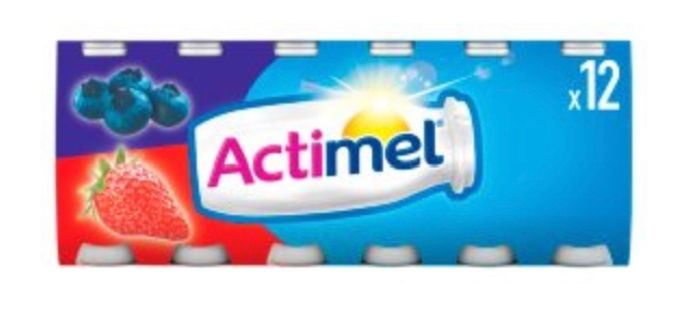Actimel Strawberry and Blueberry Yogurt Drinks - Save 46%