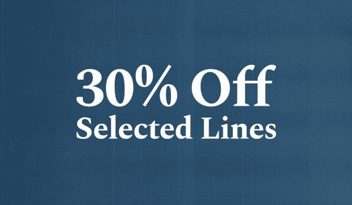 Warm up with 30% off Selected Lines