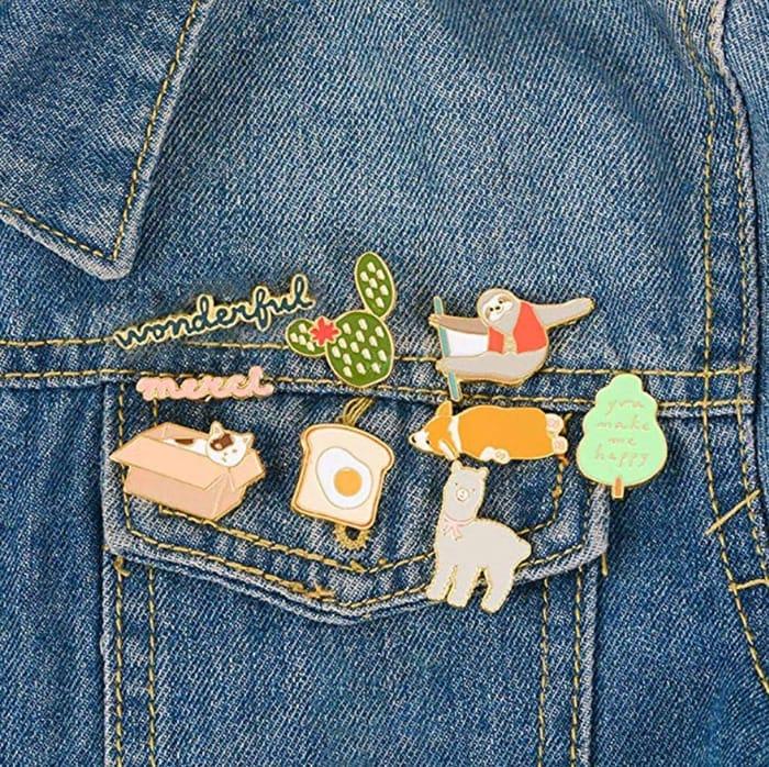 Various Designs of Enamel Pin Badges