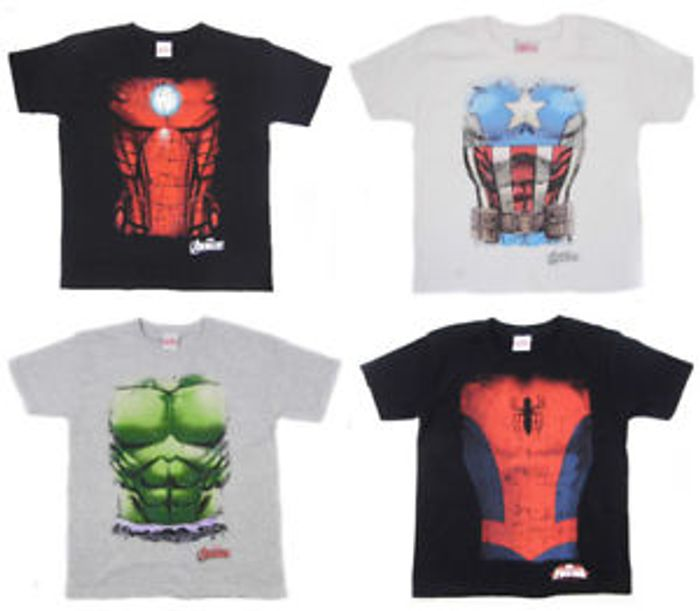 Avengers T Shirt Torso Top Hulk Iron Man Captain America Spider-Man Infinity War