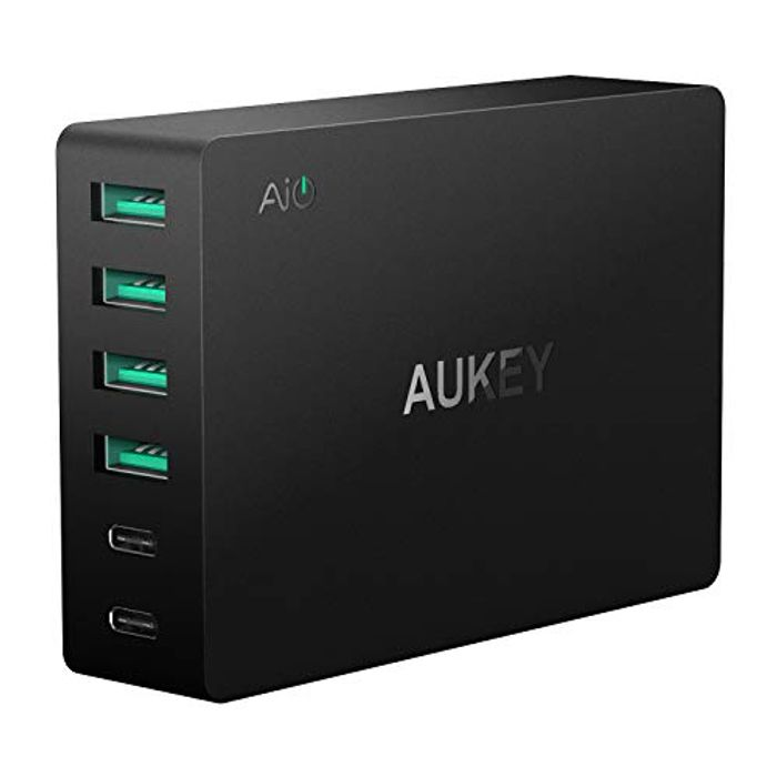 AUKEY Quick Charge 3.0 USB Charger 6 Ports- save 66%