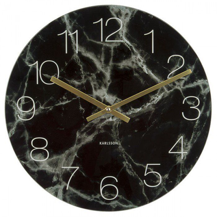 Karlsson Glass Marble Clock - Black - 60% Off!