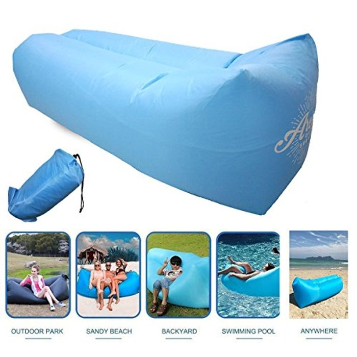 Inflatable Lounger, Easy Setup, Waterproof Air Lounger