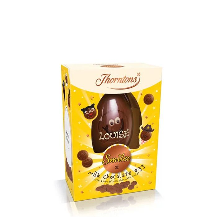 2for£12 / 5for£25 / 7for£35 on Thorntons Personised Eggs