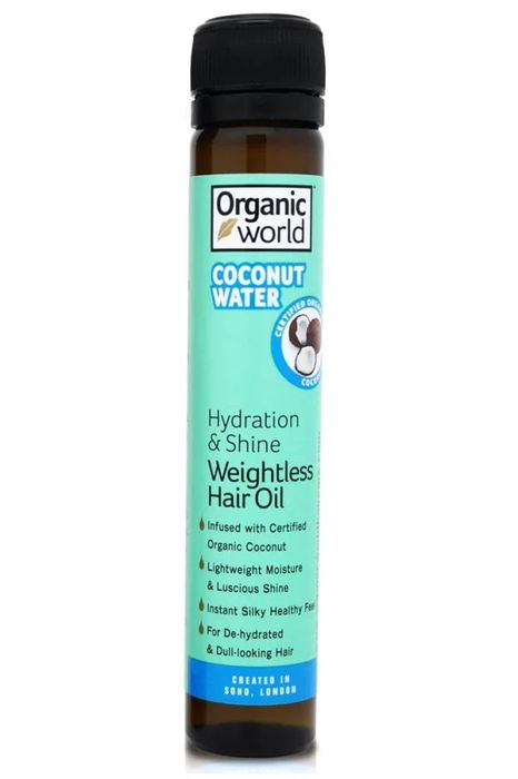 Natural World Coconut Water Hydration and Shine Weightless Hair Oil