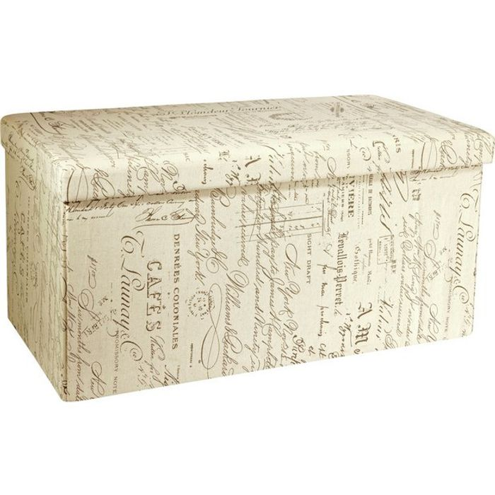 Argos Home Large Fabric Ottoman - Script CLICK & COLLECT