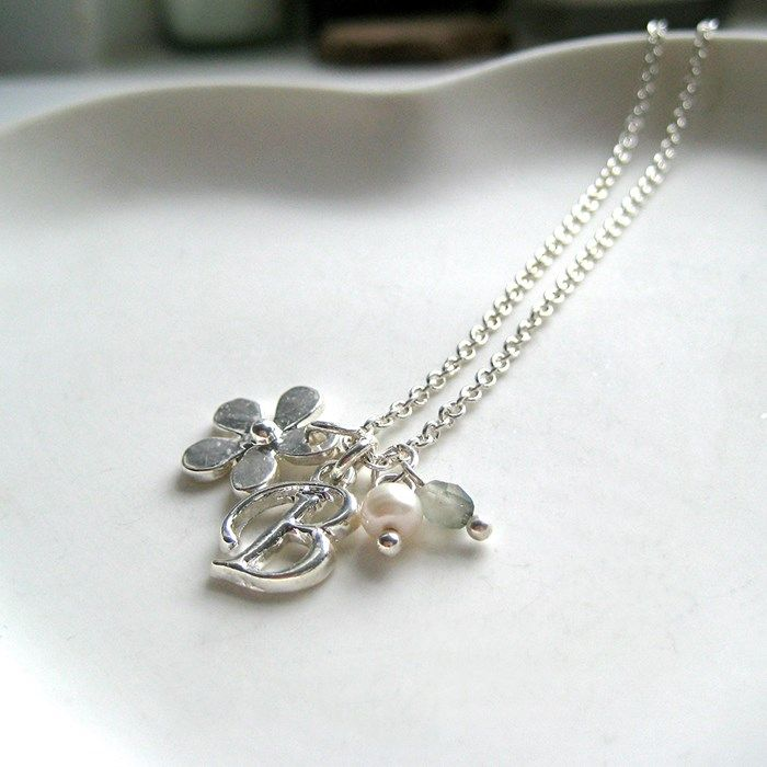 Personalised Daisy Necklace - Initial Charm + Code 4 Xtra 12%%