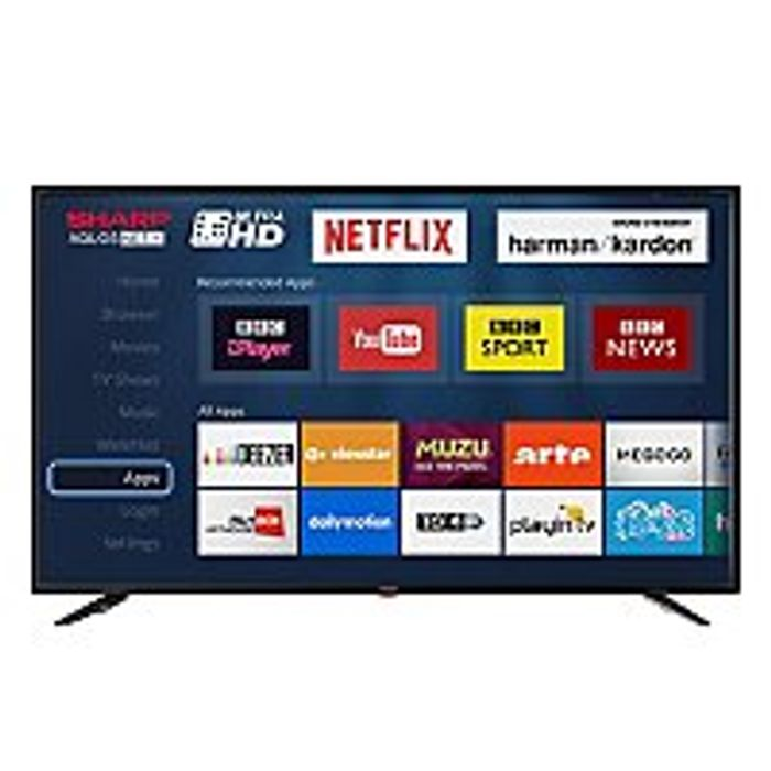 Sharp 49 Inch Ultra HD HDR LED Smart 4K TV with Freeview HD