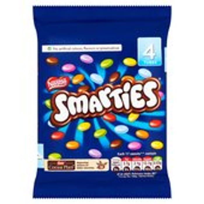 Smarties Milk Chocolate Tube Pack of 4 4 X 38g