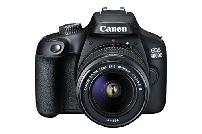 £100 OFF - Canon EOS 4000D DSLR Camera and EF-S 18-55 Mm f/3.5-5.6 III Lens