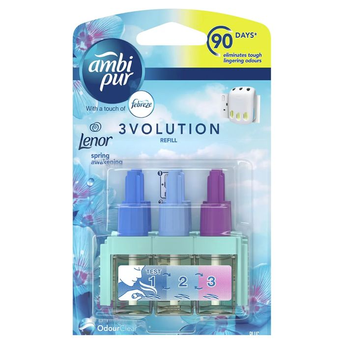 Ambi Pur 3volution Lenor Spring Awakening Air Freshener Refill 20ml - Save £1