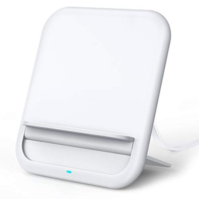 10W Qi-Certified Fast Wireless Charger Ultra-Slim Pad Stand