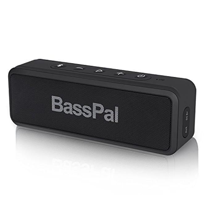 Bluetooth Speaker HD Sound 24-Hour Playtime, Built-in Mic, IPX6 Waterproof