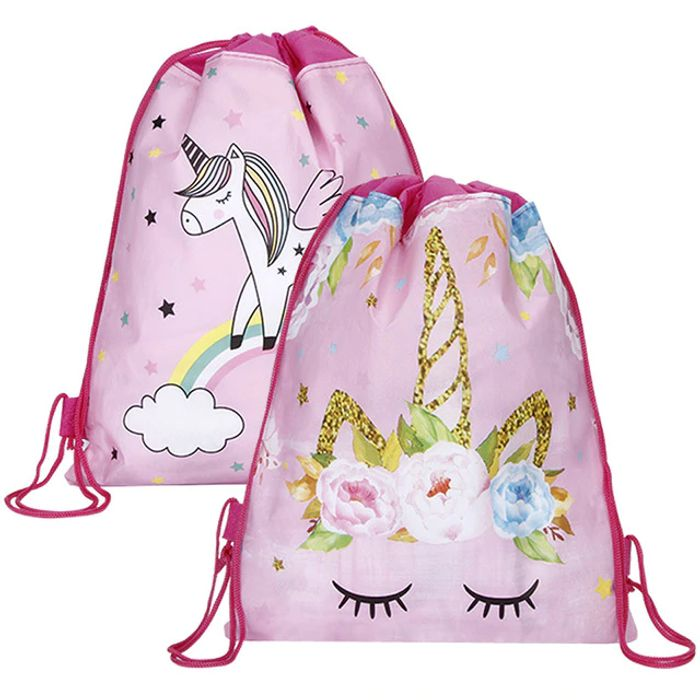 Unicorn Drawstring Bag for Girls