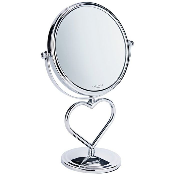 Danielle Creations Chrome Heart Stem Vanity Mirror - Save £10!