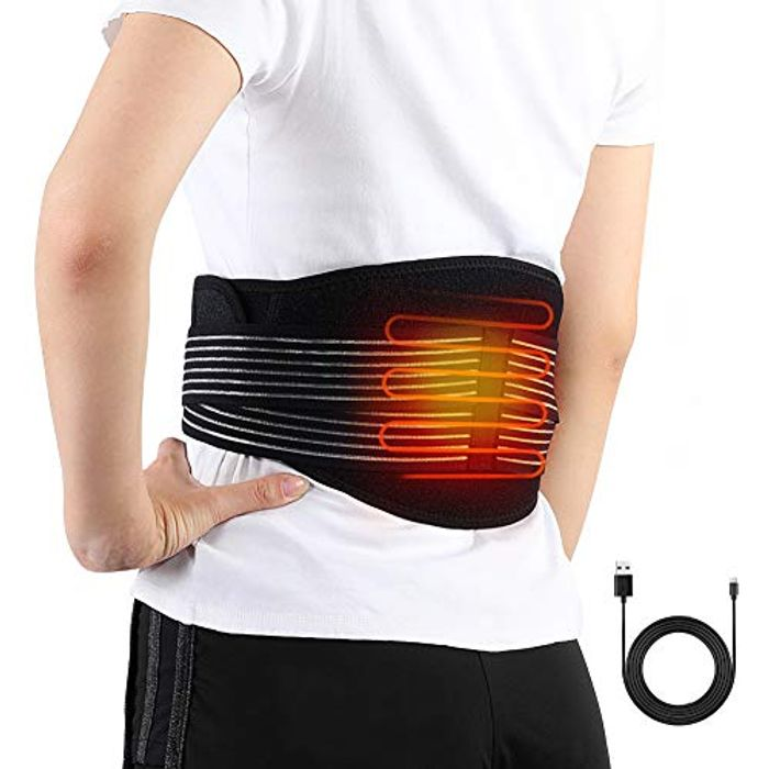 Waist Heating Pad Electric Belt for Lower Back Pain - Save £8!