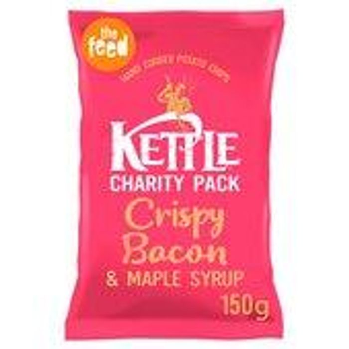 Kettle Chips Crispy Bacon and Maple Syrup 150gr Date 01/06/19