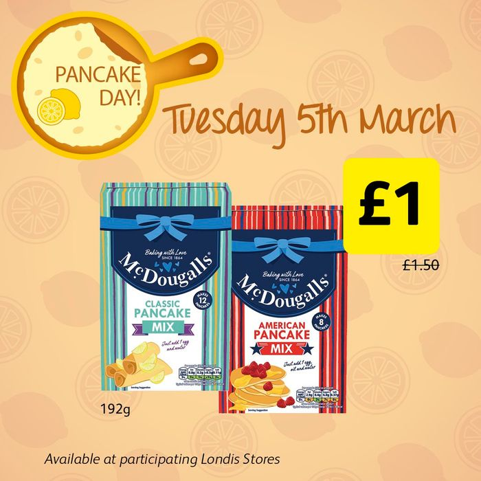 McDougalls Pancake Mix for Only £1