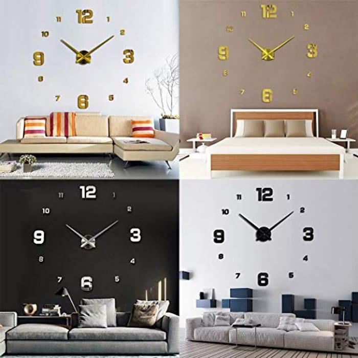 DIY Wall Clock 3D Silent Stickers Digital Modern Craft