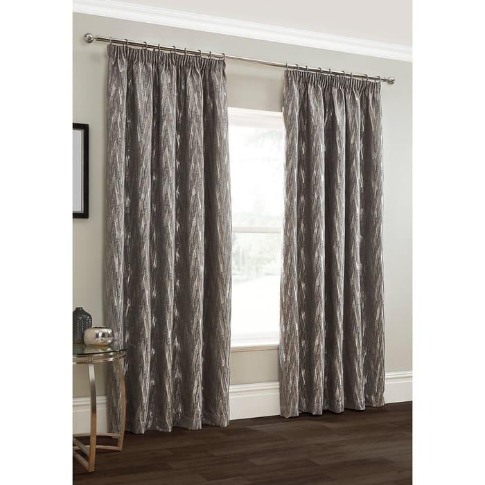 "Roma Chevron Chenille Jacquard Curtain 46 X 54"""