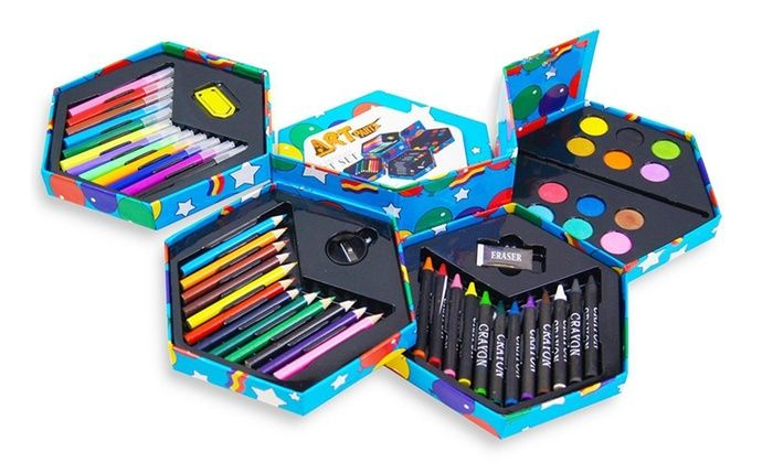 52-Piece Craft Art Stationery Box