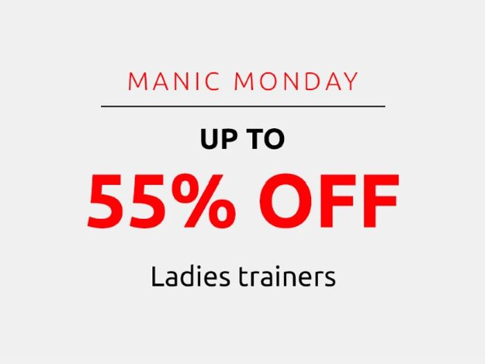 Save up to 55% on Ladies' Trainers | Manic Monday